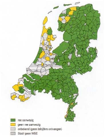 verspreiding ree Nederland