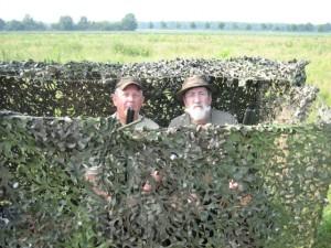 Camouflagehut voor jacht op de houtduiven, kraaien en ganzen