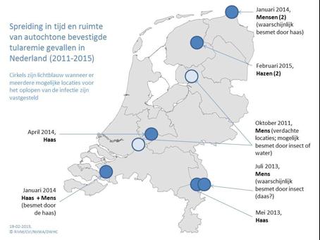 Tularemie overzicht Nederland